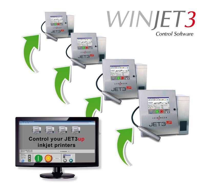 WINJET3 Standard - Steuerungs-Software für industrielle Inkjet-Drucker