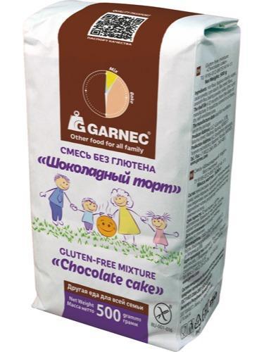 Suklaakakku mix  - Suklaakakku mix gluteeniton Garnec, 500 g