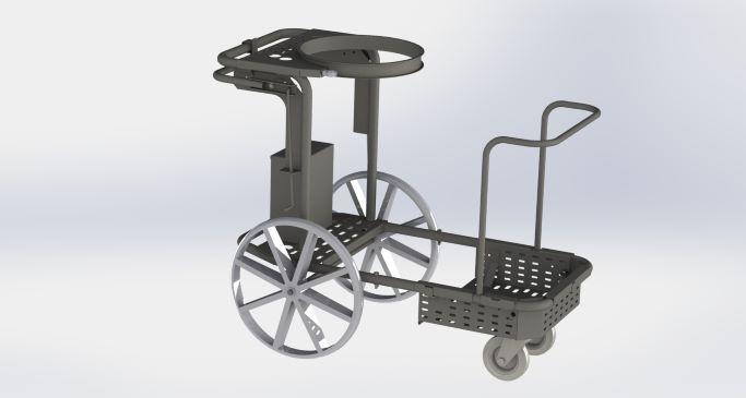 Le chariot de propreté -