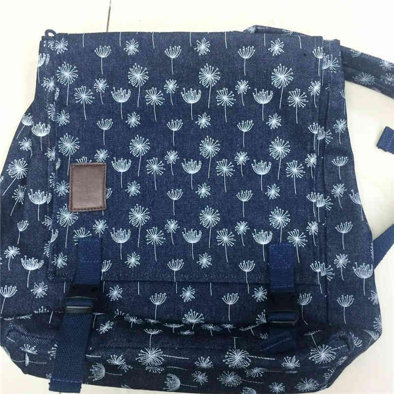 Heavy canvas fabric backpack - full printing color