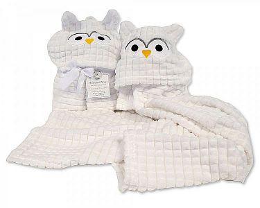 Baby Hooded Wrap - Owl -
