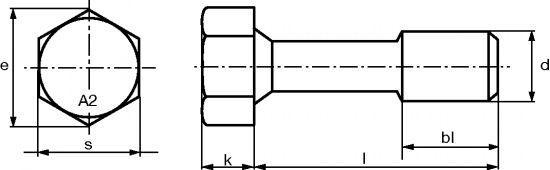 VIS A TETE HEXAGONALE IMPERDABLE AVEC RONDELLE - INOX A2 (226248)