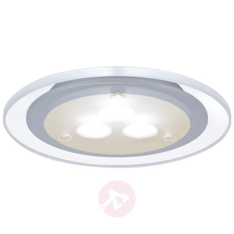 3 piece set LED recessed light Micro Line, clear - Recessed Furniture Lights
