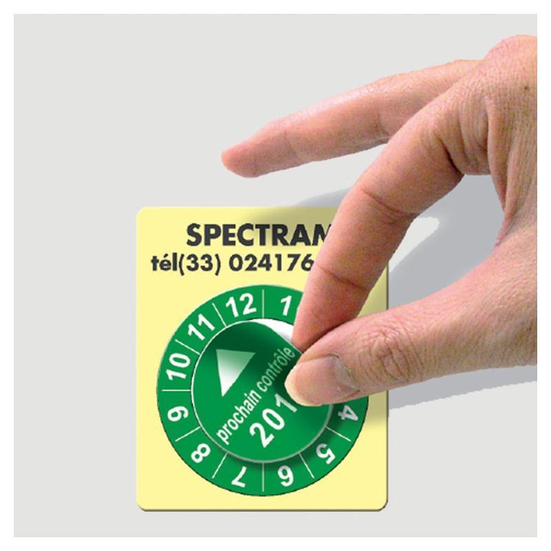 Étiquettes pastilles calendriers - Étiquettes de sécurité
