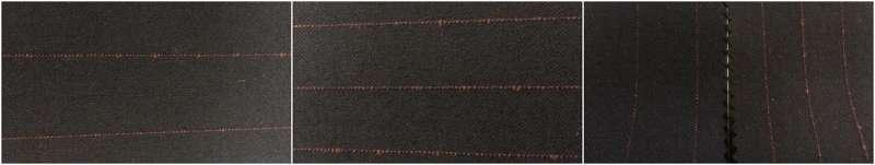 wolle / Polyester / Elasthan 60/36/4  Sersche2/2 - Dampf Fertig / Garn gefärbt slub Streifen