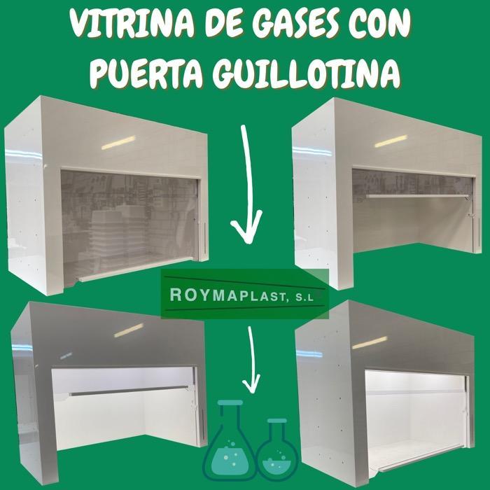 Vitrina para gases  - Con puerta guillotina y luz