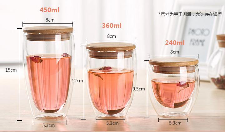 DOUBLE WALL CUP - 450ml, 360ml, 240ml