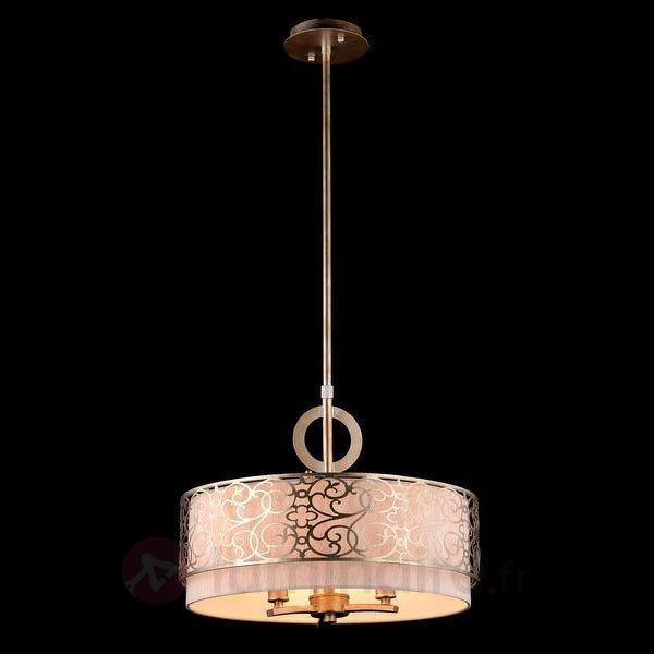Suspension Venera avec décorations métalliques - Suspensions en tissu