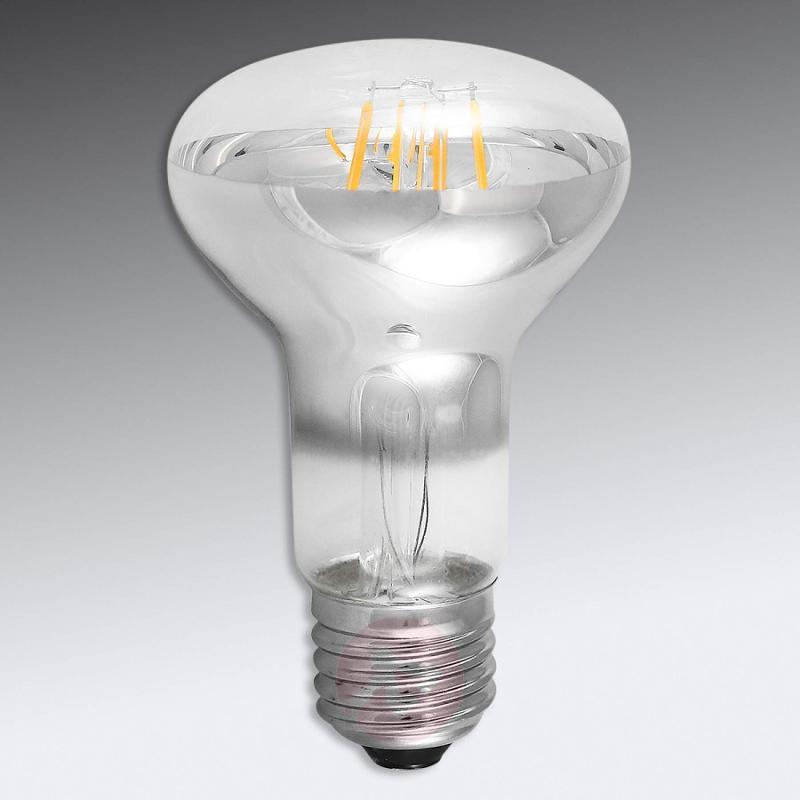 E27 5W 826 LED filament reflector R63, transparent - light-bulbs