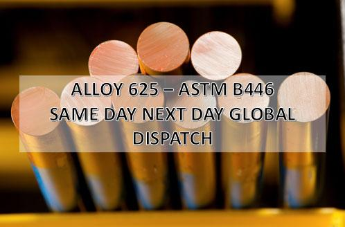 Alloy 625 - Alloy 625, round bar, ASTM B446, same day next day global dispatch
