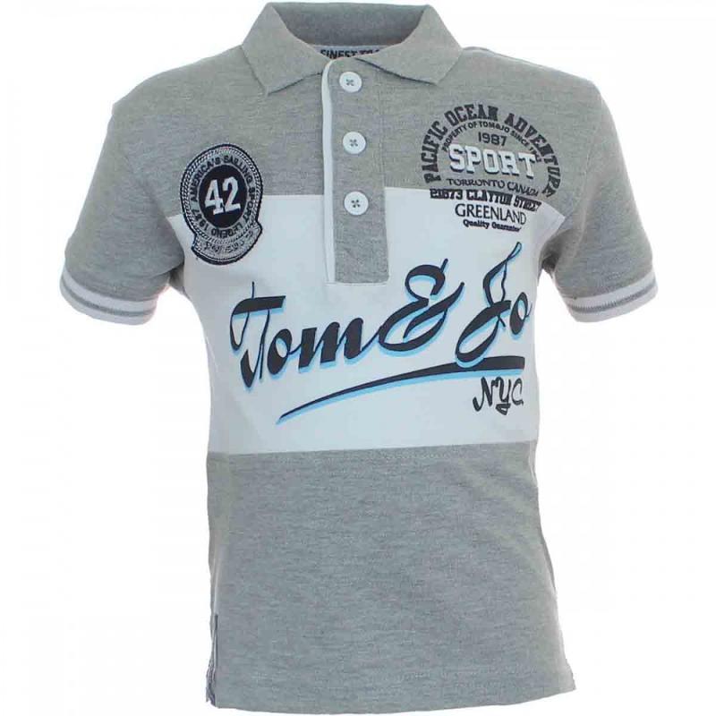 10x Polos manches courtes Tom Jo du 6 au 14 ans - T-shirt et polo manches courtes