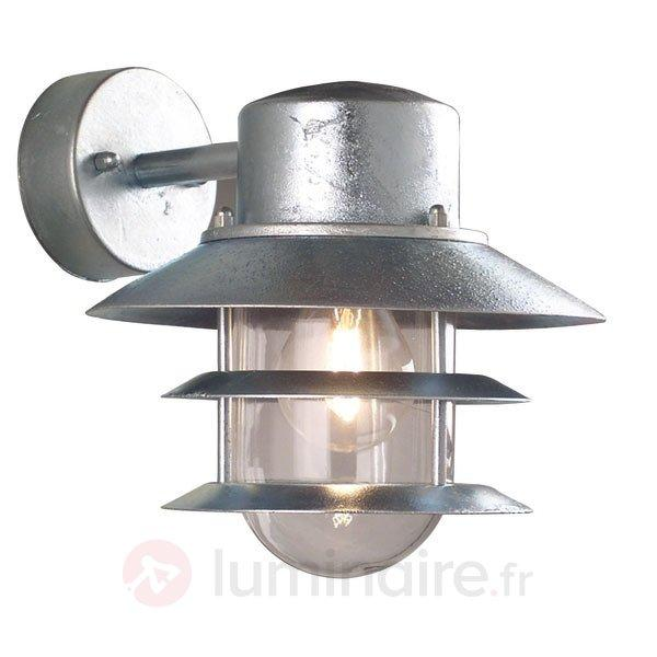 Applique lampe vers le bas BLOKHUS galvanisée - Toutes les appliques d'extérieur