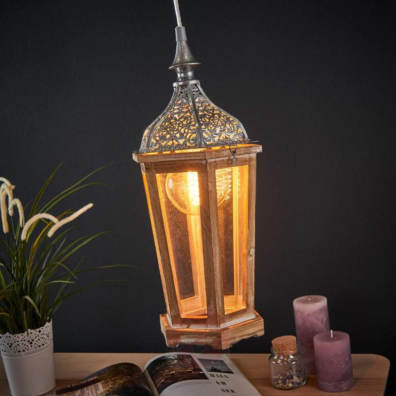 Wooden Margrit hanging light - Pendant Lighting