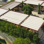 Couverture Wood - Couverture de terrasse à toile manuel ou motorisé