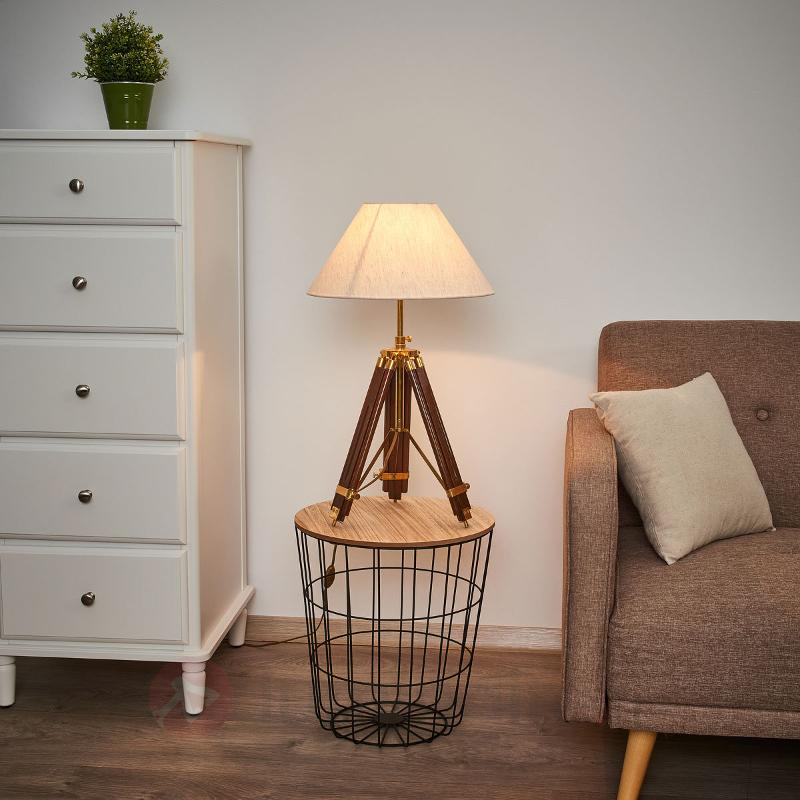 MINISTATIV lampe à poser et lampadaire à la fois - Lampes à poser en bois