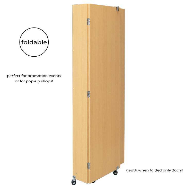 Folding Fitting Room  - Comes in Natural Wood and White Finish