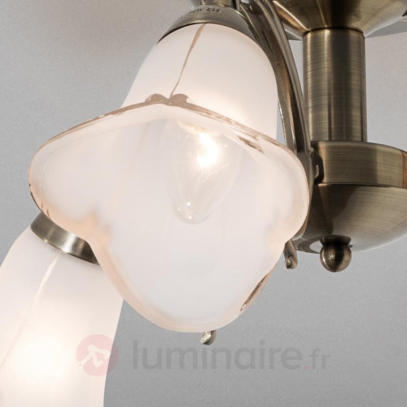 Plafonnier LED Dalin à 3 lampes - Plafonniers laiton/dorés