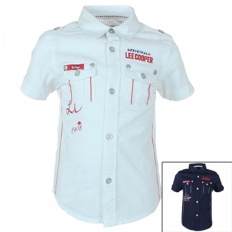 8x Chemises manches courtes Lee Cooper du 2 au 5 ans - Chemise