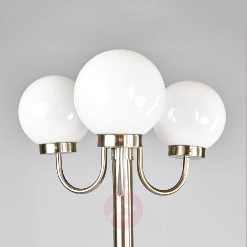 3-light, post light Laci, made of stainless steel - Pole Lights
