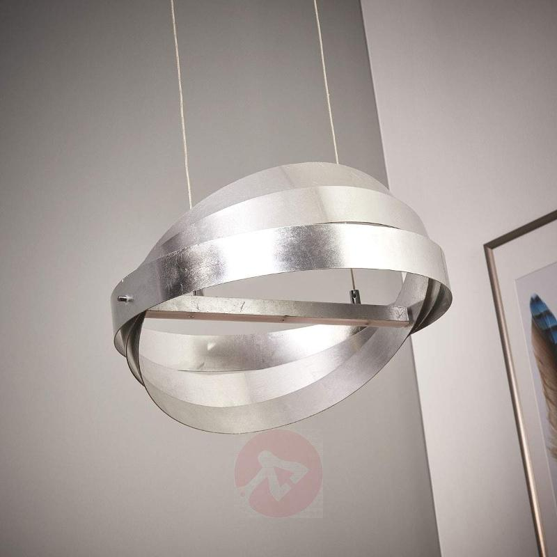 Silver LED hanging light Rings - Pendant Lighting
