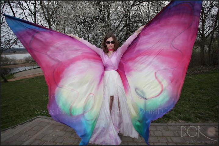 Hand painted silk dance wings
