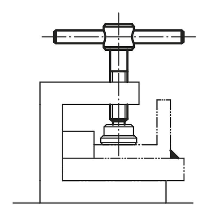 Vis à broche fixe ou mobile DIN 6304 ou DIN 6306 - Leviers de blocage, manettes indexables
