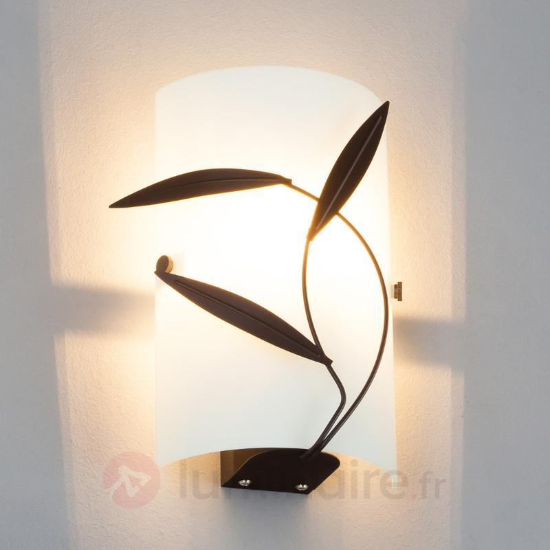 Applique Marlon avec décor feuilles, LED E14 - Appliques LED