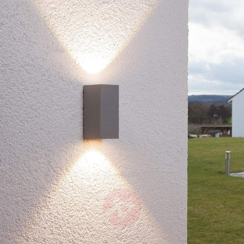 Silver outdoor wall light Tavi with Bridgelux LED - Outdoor Wall Lights