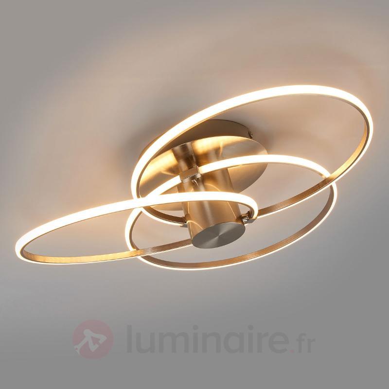 Plafonnier LED Antoni ultra moderne, 3 anneaux - Plafonniers LED