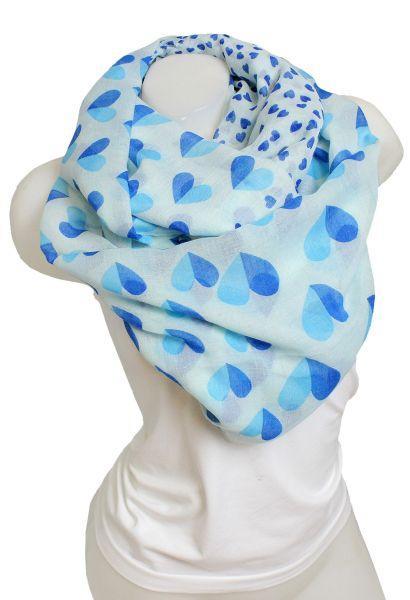 Foulard coeur bleu