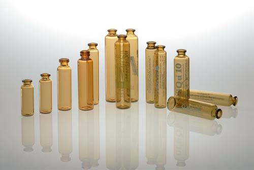 Roll collar vials -