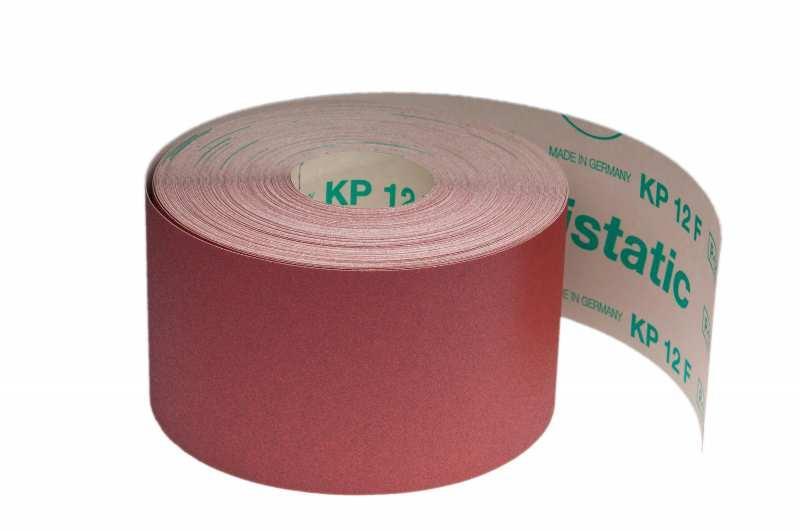 Schleifrollen für Holz / Fußboden KP12F antistatic - Körnungen: P60, P80, P100, P120, P150