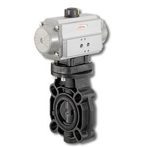 GEMÜ D451 - Válvula de mariposa de accionamiento neumático