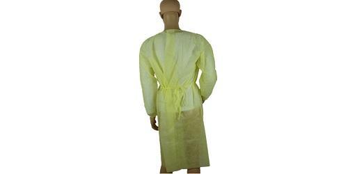 Vestido quirúrgico amarillo -