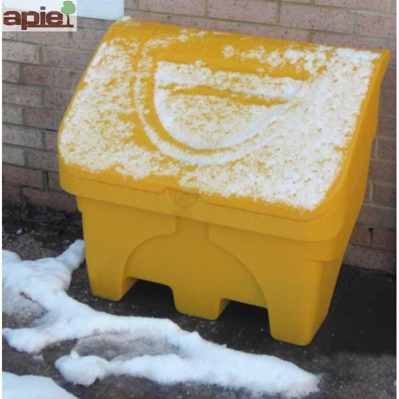 Coffre à sel ou sable 130L jaune - Référence : CS130J/ECO