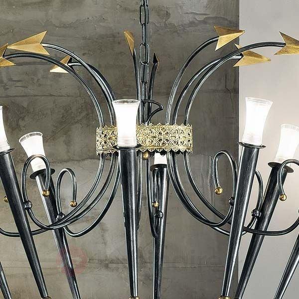 Lustre IMPERO à 8 lampes ovale - Lustres rustiques