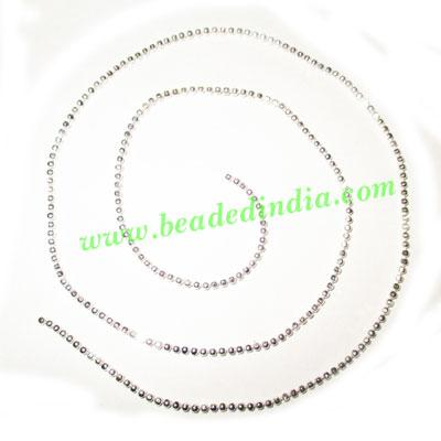 Silver Plated Metal Chain, size: 1.5mm, approx 112.5 meters  - Silver Plated Metal Chain, size: 1.5mm, approx 112.5 meters in a Kg.
