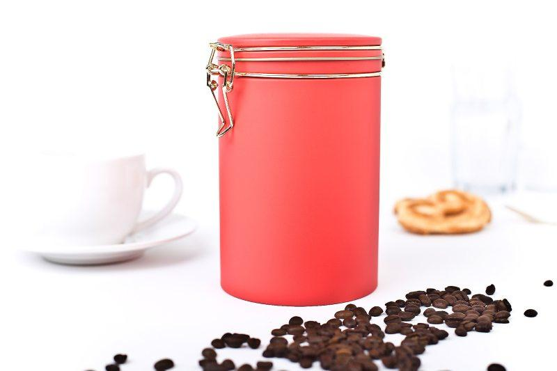 round coffee tin boxes - 105x150mm with air tight lid
