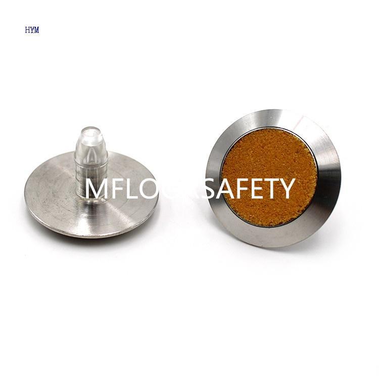 Yellow Carborundum Insert Stud - Tactile indicator