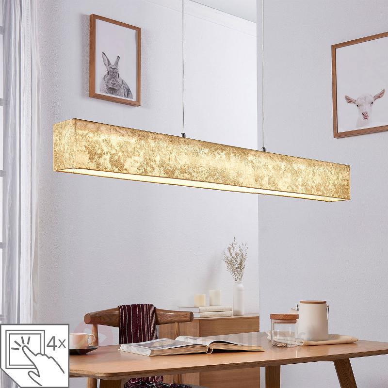 Suspension LED dorée Takia, 100 cm - Suspensions LED