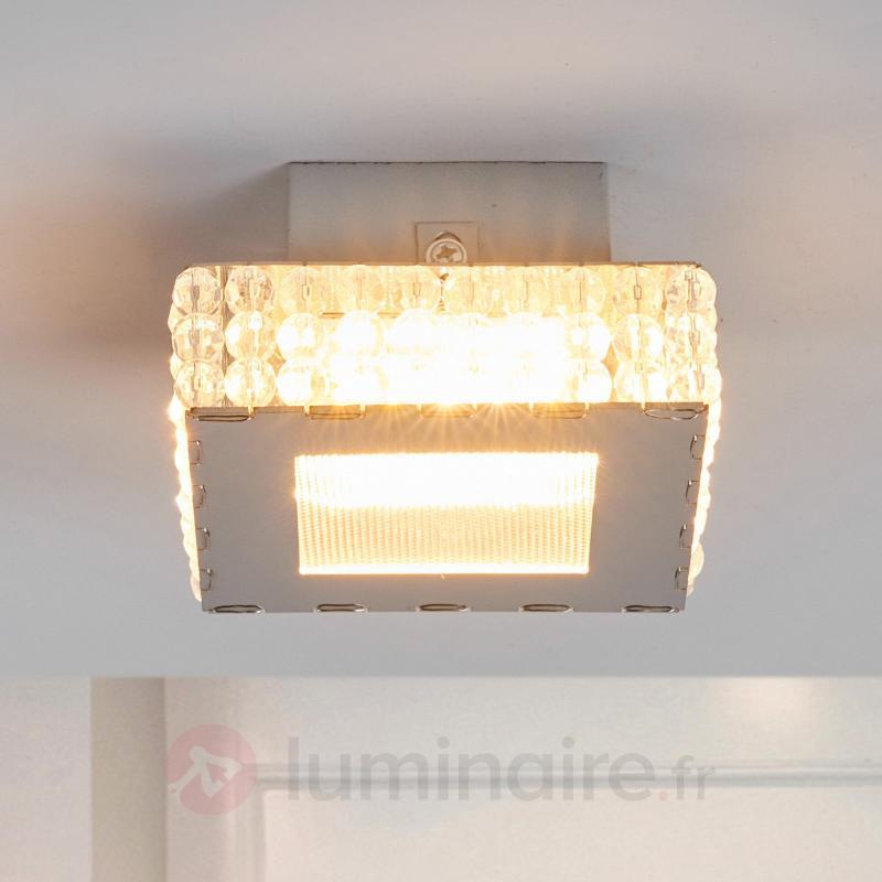 Petit plafonnier LED Marlit avec pierres de verre - Plafonniers LED