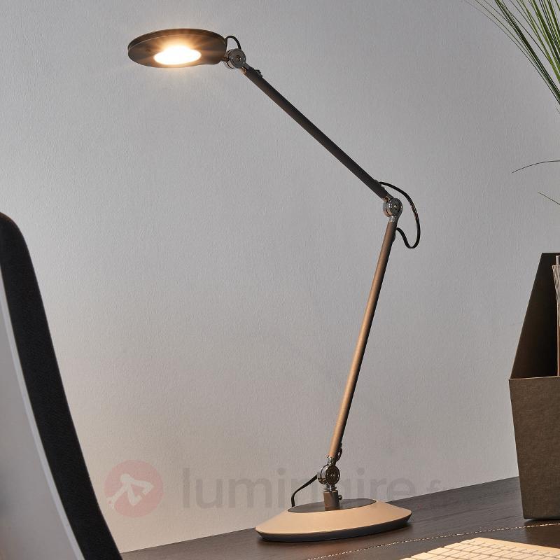 Lampe à poser LED Roderic anthracite - Lampes de bureau LED