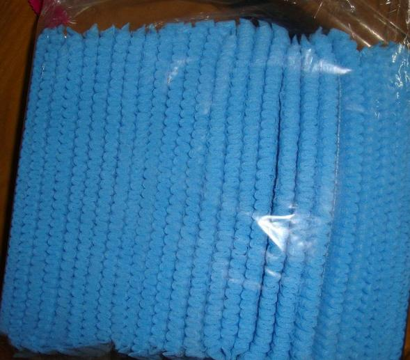 Disposable mob cap - Color: blue, white, green Material: PP nonwoven fabrics Size: 19'' 21 '' 24 ''