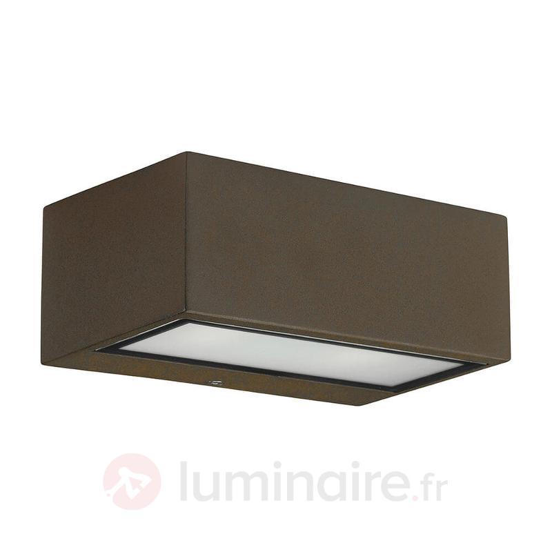 Applique d'extérieur LED Némésis, brun - Appliques d'extérieur LED