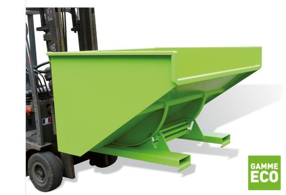 Benne automatique éco – charge 1000 kg - Bennes basculantes