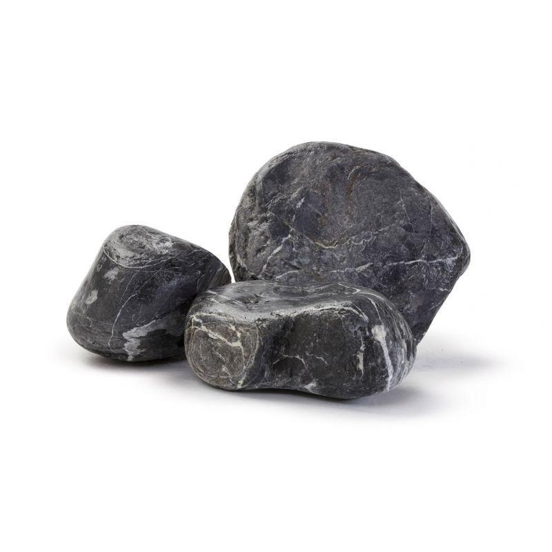 Gros galet au détail - Galets marbre noir veiné à l'unité