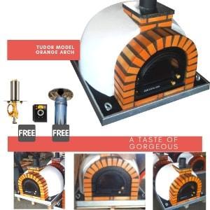 Tudor Model - Orange Arch - Cast iron glass door