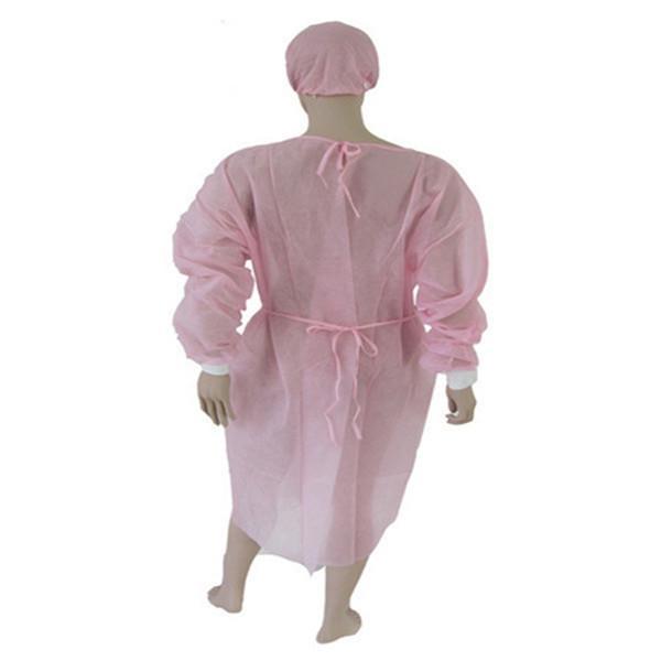 Vestido cirúrgico PP + PE - Branco, azul, amarelo, rosa, 115 * 137 cm, 120 * 140 cm, 125 * 145 cm, 130 * 150