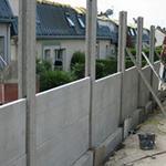 Clôture de jardin en béton - Aménagement extérieur