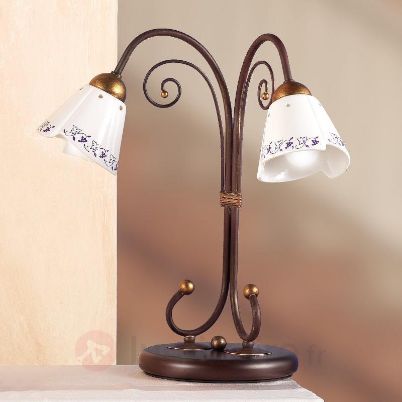 Lampe à poser élégante CARTOCCIO 2 lampes - Lampes à poser rustiques
